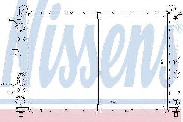Радіатор охолоджування Nissens 61873
