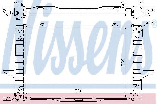 Радиатор, охлаждение двигателя NISSENS арт. 65536A