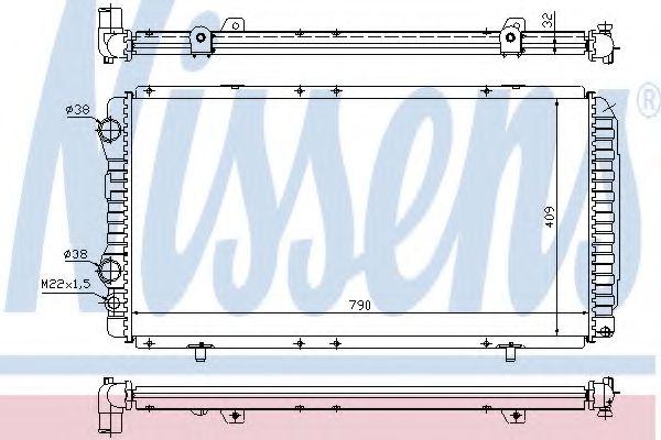 Радиатор, охлаждение двигателя Nissens - 61390