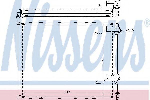 Радіатор охолоджування Nissens 63942A