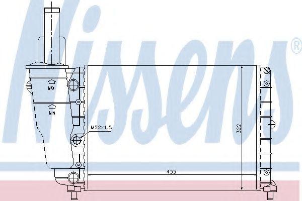Радіатор охолоджування Nissens 61856