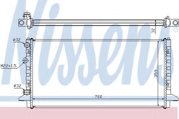 Радиатор, охлаждение двигателя NISSENS арт. 65256
