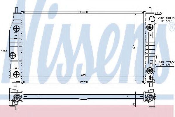 Радиатор, охлаждение двигателя NISSENS арт. 69016