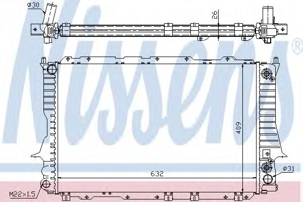 Радиатор, охлаждение двигателя NISSENS арт. 60476