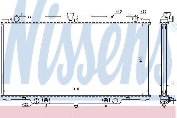 Радіатор охолоджування Nissens 62953A