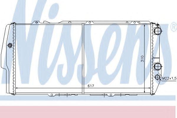Радиатор, охлаждение двигателя NISSENS арт. 604781