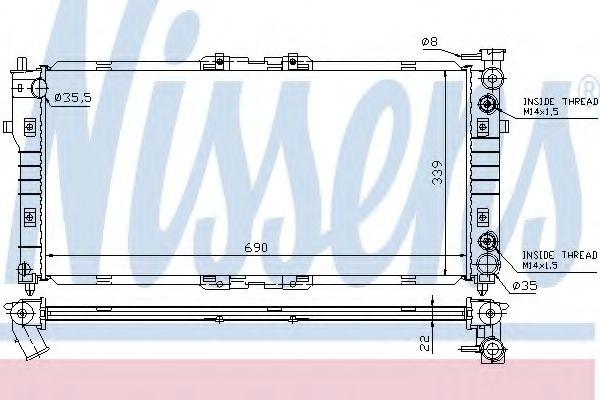 Радиатор, охлаждение двигателя Nissens - 62393