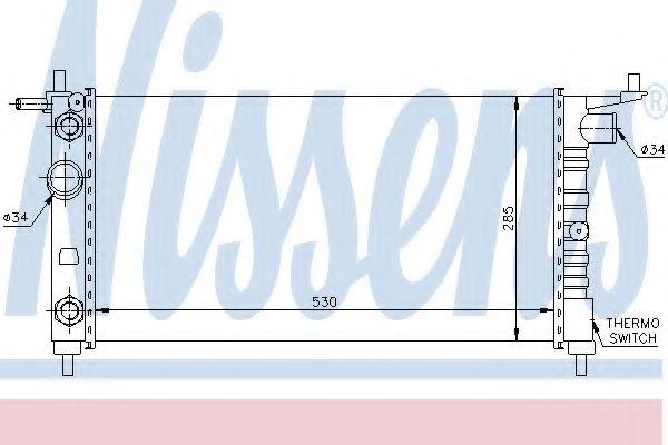 Радиатор, охлаждение двигателя NISSENS арт. 63284
