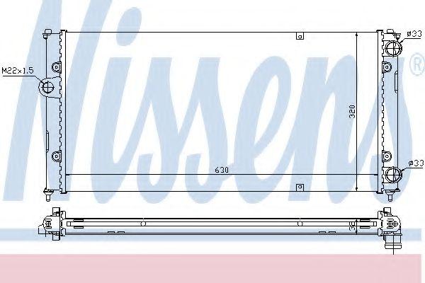 Радиатор, охлаждение двигателя Nissens - 639971