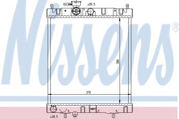 Радіатор охолоджування Nissens 62954