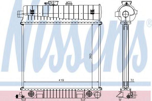 Радиатор, охлаждение двигателя Nissens - 62708A