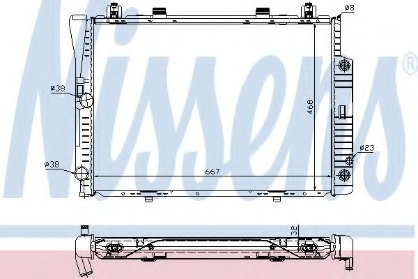 Радіатор охолоджування Nissens 62746A