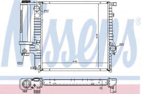 Радиатор, охлаждение двигателя Nissens - 60623A