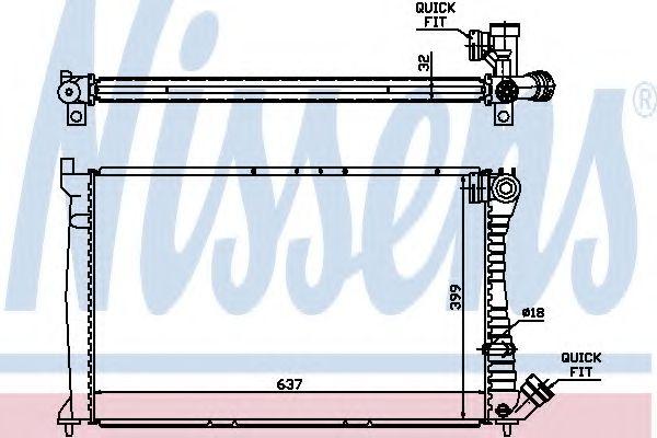 Радіатор охолоджування Nissens 61349A