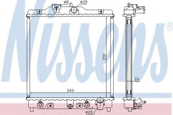 Радіатор охолоджування Nissens 633081