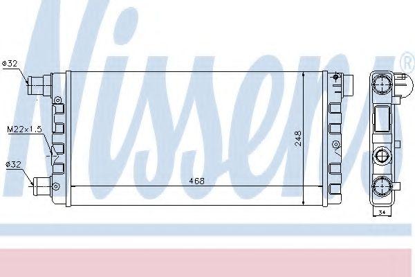 Радіатор охолоджування Nissens 61814
