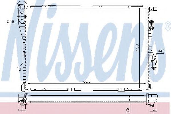Радіатор охолоджування Nissens 60603A