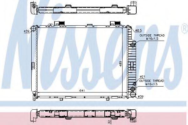 Радіатор охолоджування Nissens 62691A