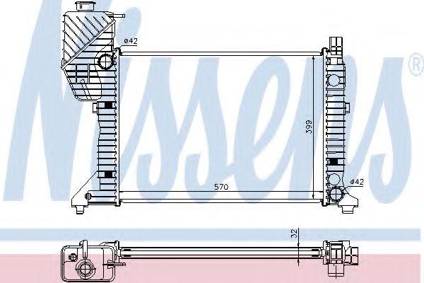 Радіатор охолоджування Nissens 62687A