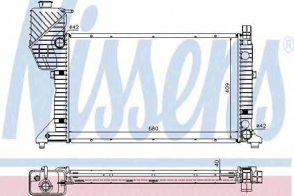 Радиатор, охлаждение двигателя NISSENS арт. 62685A