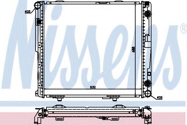 Радіатор охолоджування Nissens 62698A
