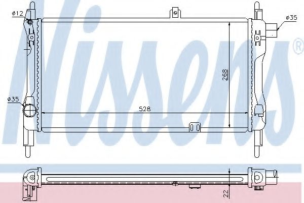 Радиатор, охлаждение двигателя NISSENS арт. 632381