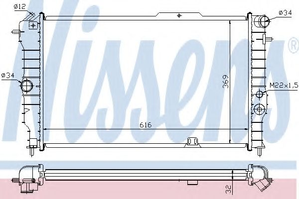 Радіатор охолоджування Nissens 630631