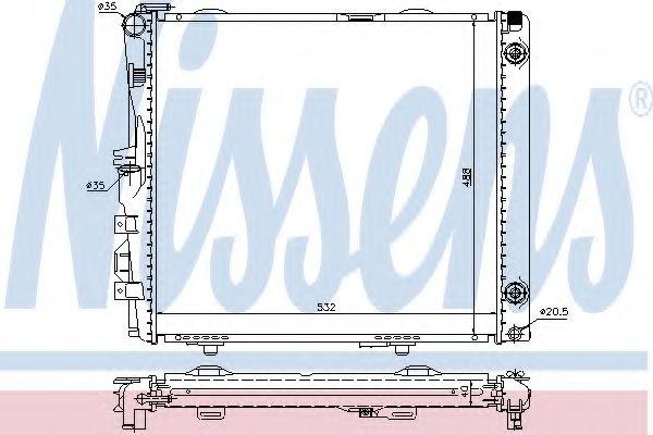 Радіатор охолоджування Nissens 62683A
