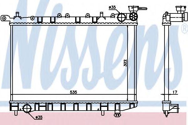 Радиатор, охлаждение двигателя Nissens - 62974