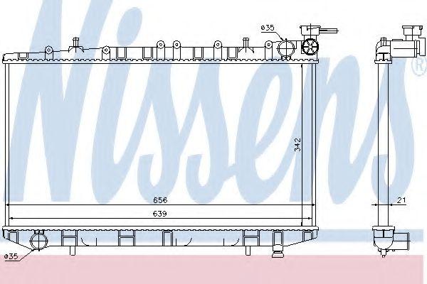 Радіатор охолоджування Nissens 62972