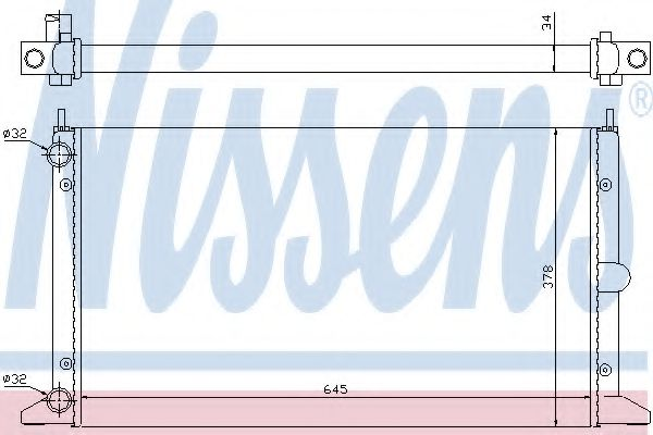 Радiатор Nissens 63993