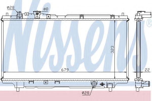 Радіатор охолоджування Nissens 62383A