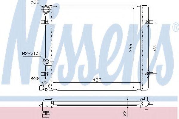 Радиатор, охлаждение двигателя NISSENS арт. 641011