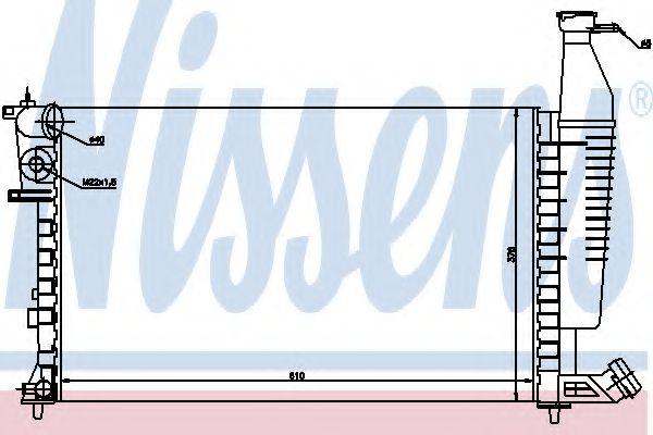 Радиатор, охлаждение двигателя NISSENS арт.