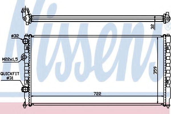Радиатор, охлаждение двигателя NISSENS арт. 65252