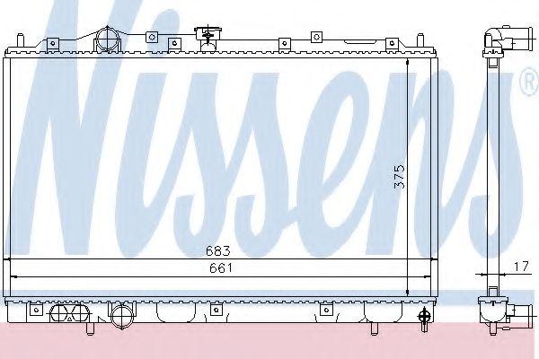 Радіатор охолоджування Nissens 628591