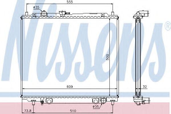 Радіатор охолоджування Nissens 62852