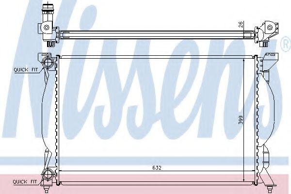 Радіатор охолоджування Nissens 60304A