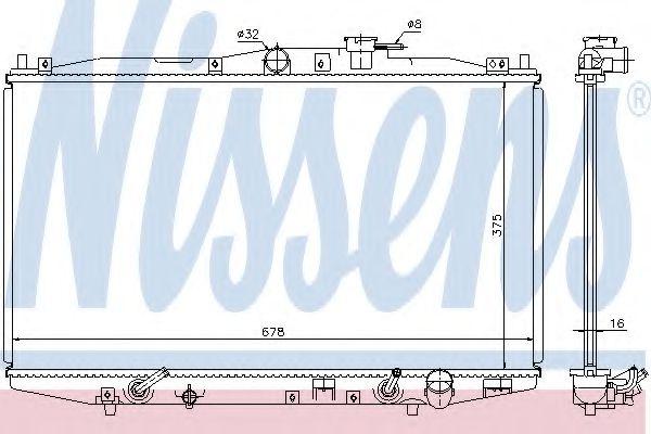 Радиатор, охлаждение двигателя Nissens - 63345
