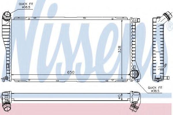 Радиатор, охлаждение двигателя NISSENS арт. 60634A