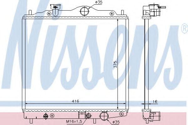 Радіатор охолоджування Nissens 67100