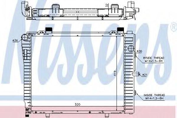 Радіатор охолоджування Nissens 62712A