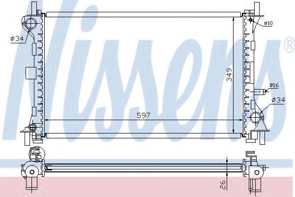 Радіатор охолоджування Nissens 62073A