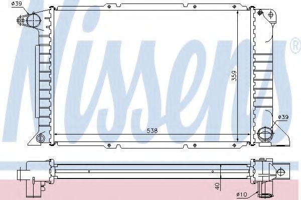 Радіатор охолоджування Nissens 62080A