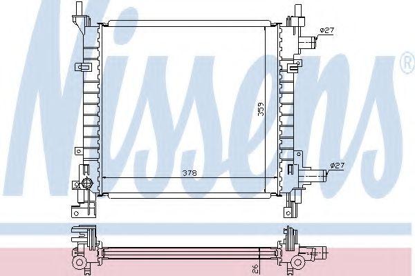 Радіатор охолоджування Nissens 62083A
