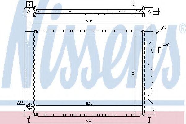 Радіатор охолоджування Nissens 642111