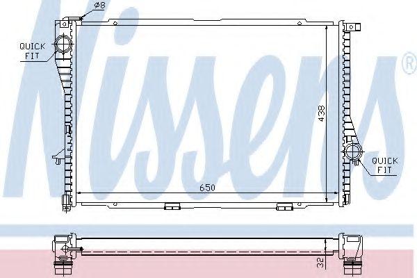 Радіатор охолоджування Nissens 60648A