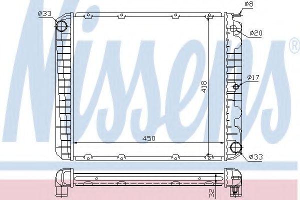 Радіатор охолоджування Nissens 65545A