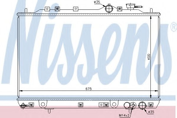 Радиатор, охлаждение двигателя Nissens - 67006