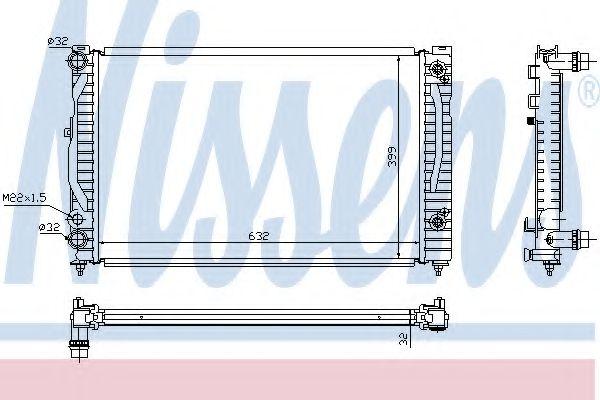 Радиатор, охлаждение двигателя NISSENS арт. 60499